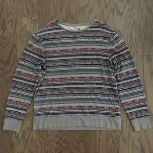 UO On The Byas light Stripe crew neck sweater